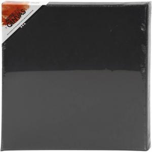 Canvas målarduk svart 30x30x2cm