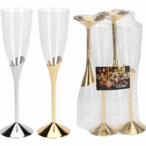 Champagneglas plast 4-pack