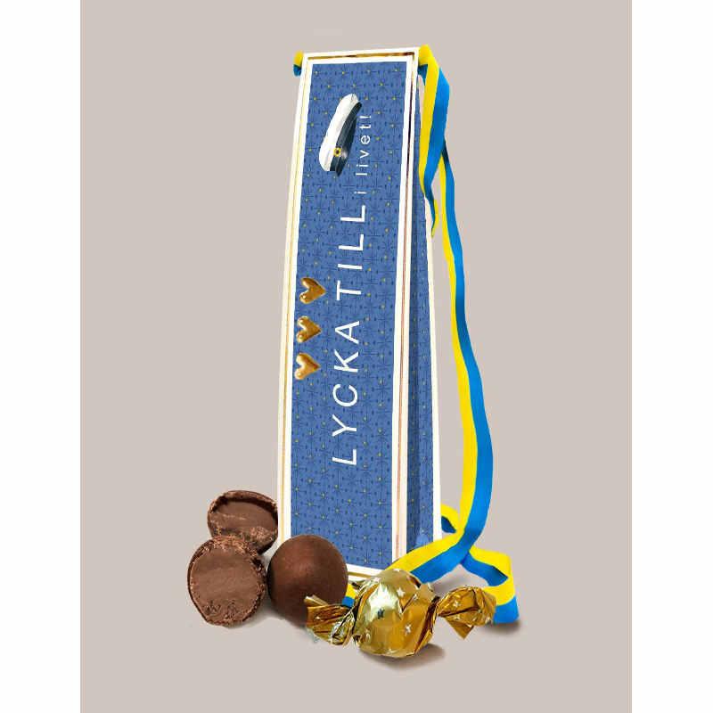 Chokladpraliner Lycka till i livet student
