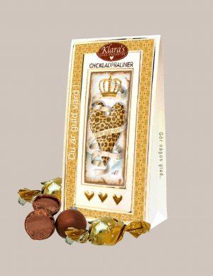 Chokladpraliner Du är Guld värd