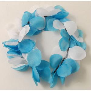 Diadem Blommig  Blå & Vit