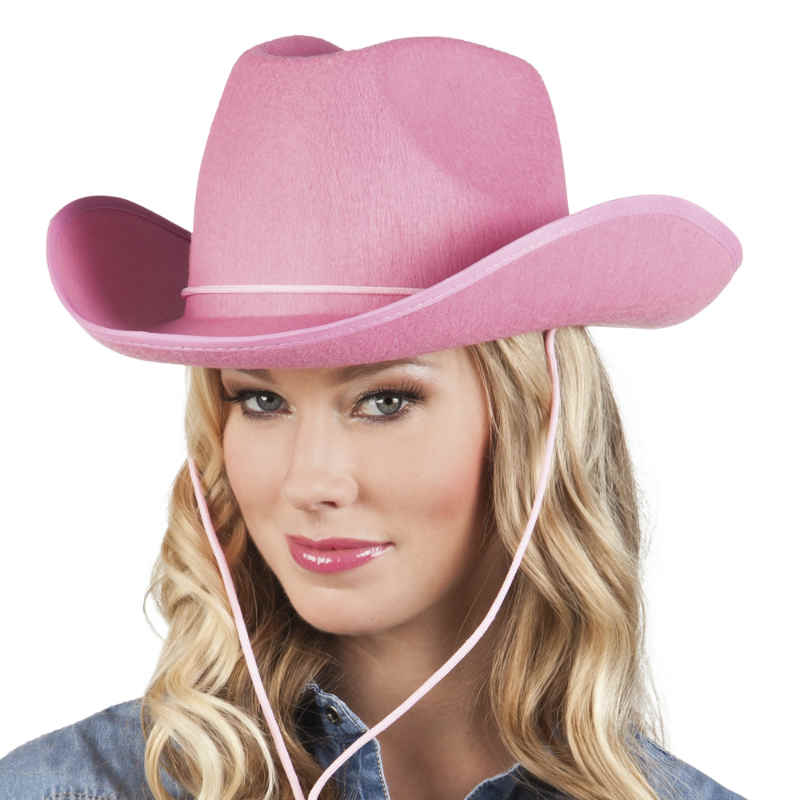 Cowboyhatt Rosa filt