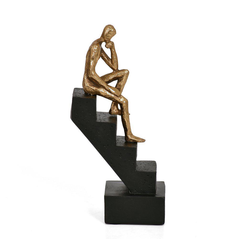 Dekoration Man på trappa H21 B8 D7 cm