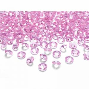 Dekorationsdiamanter rosa 100-pack
