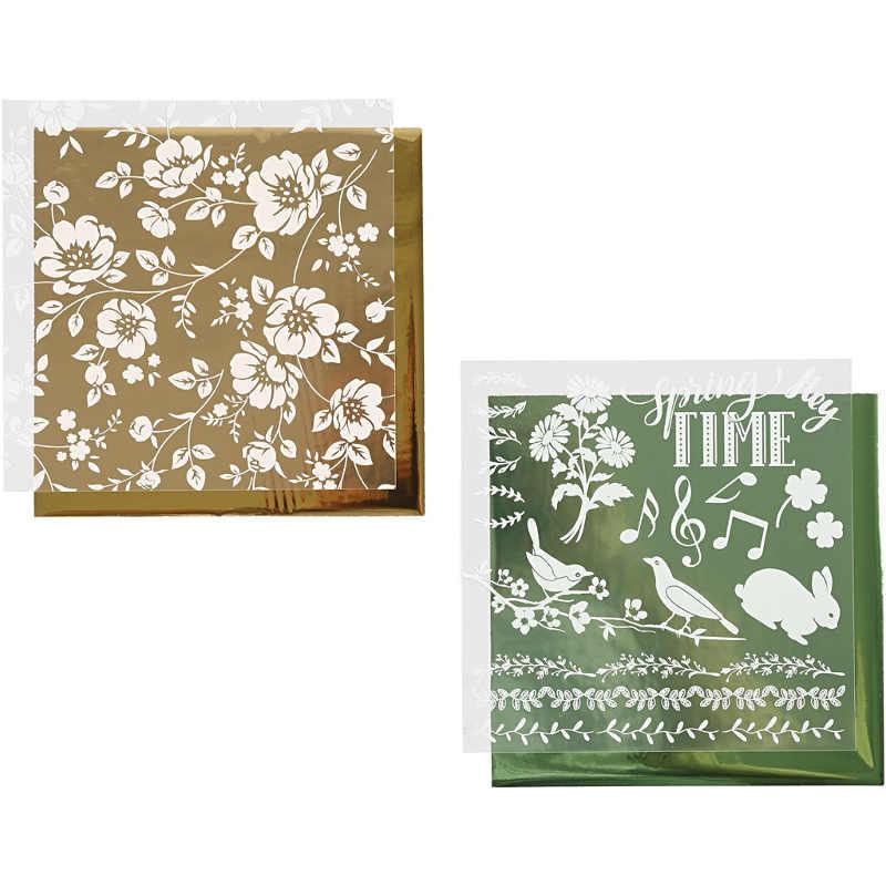 Dekorationsfolie Guld/Grön