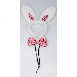 Diadem Bunny set med fluga