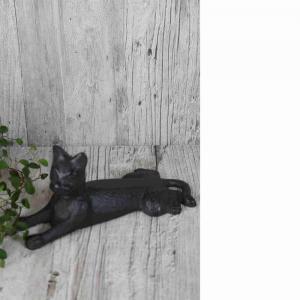 Dörrstopp Katt L17cm gjutjärn