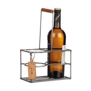 Dryckeshållare smide med trähandtag H30cm