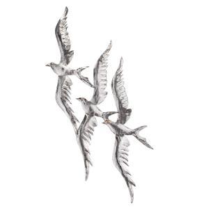 Fåglar vägg i plåt 30x70cm