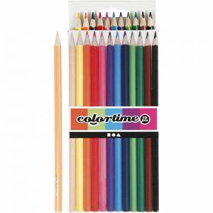 Färgpennor blyerts mixade färger 12-pack