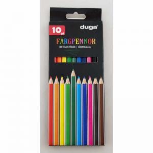 Färgpennor trä 10 färger