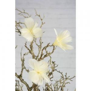 Fjäder blom ljusgul 12pack