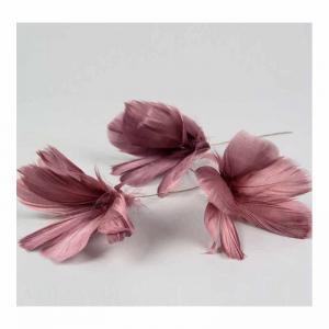 Fjäder blom gammelrosa 12-p