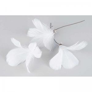 Fjäder blom vit 12-p