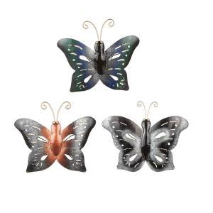 Fjäril hamrad plåt 15x19cm