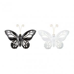 Fjäril smide 38x24cm svart o vit