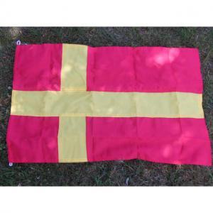 Flagga lös fasad tyg Skåne 45x70cm