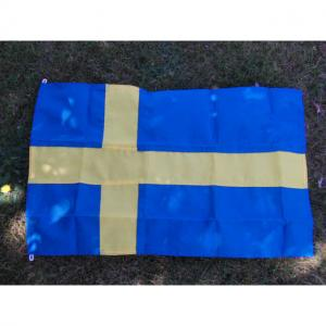 Flagga fasad Lös Sverige