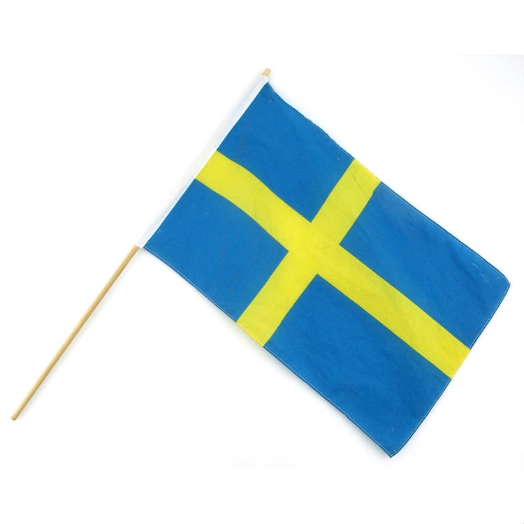 Flagga Sverige på pinne
