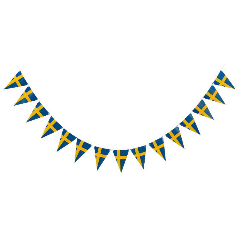 Flaggor-triangel sverige på lina
