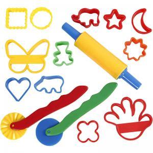 Formar och verktyg för lera