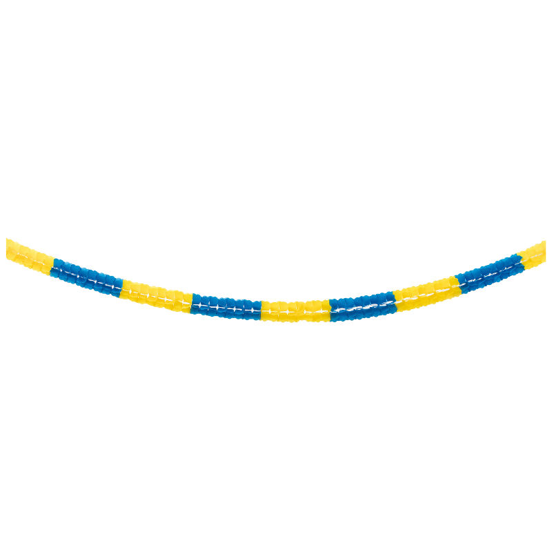 Girlang 6m gul-blå