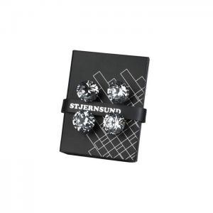 Glasknoppar 4pack Silver-Glas diamant