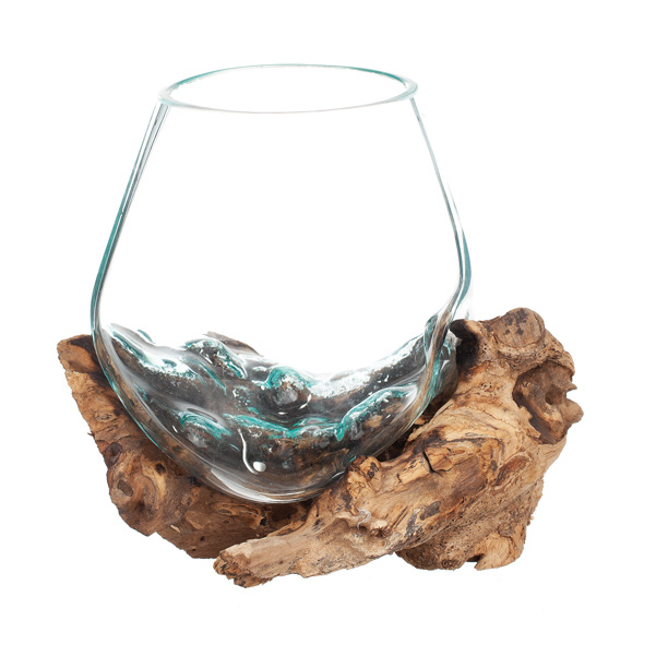 Glasskål på Trädrot 20cm