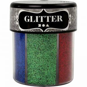 Glitterburk mörka mixade färger