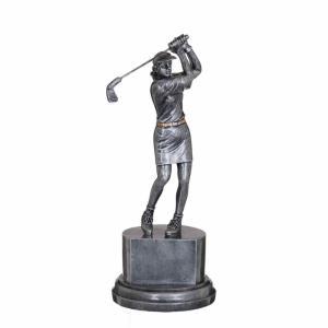 Golfspelare Kvinna Statyett