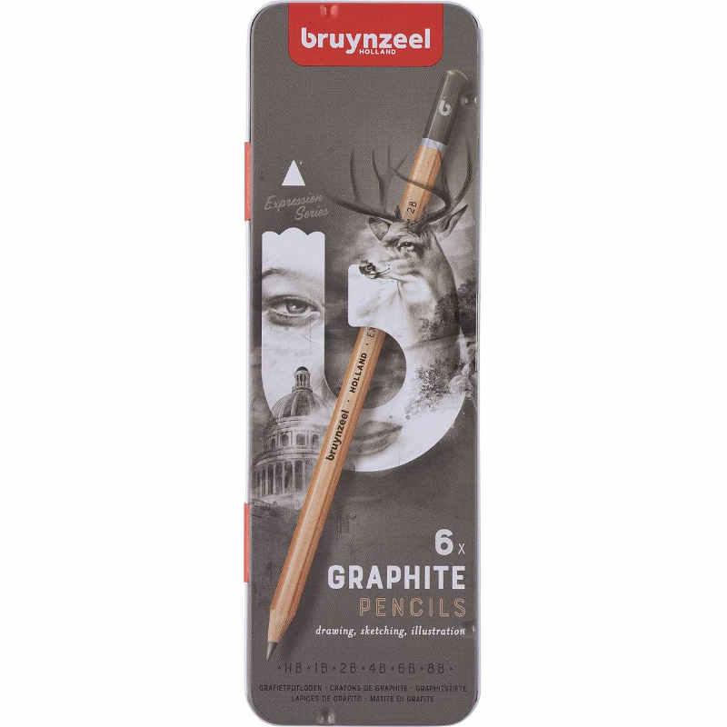 Grafitpennor 6pack Bruynzeel