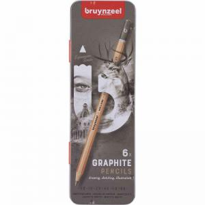Grafitpennor 6pack Bruynzeel