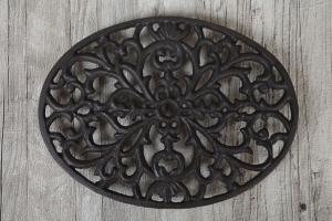 Grytunderlägg gjutjärn ornament