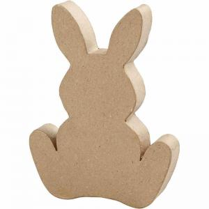 Hare platt papier-maché H18xD2,5cm