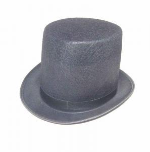 Hatt extra hög svart filt
