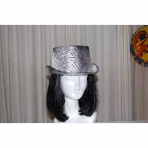 Hatt hög silver/svart melerad