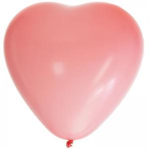 Hjärtballonger Rosa 8pack