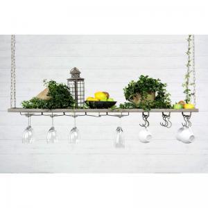 Hylla häng för glas och muggar L120cm