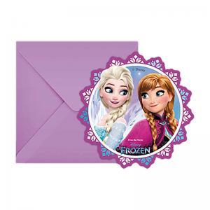 Frozen Inbjudningskort 6p