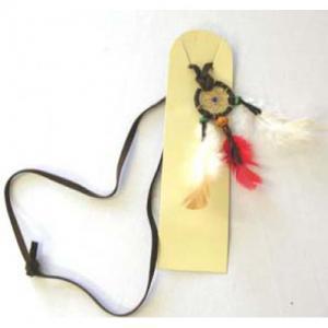 Indian halsband med fjädrar