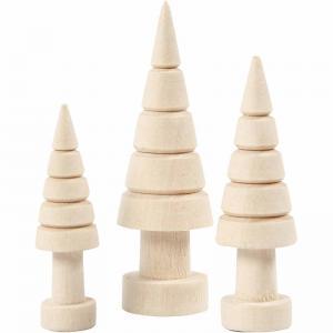 Julgranar i trä H5+6+7cm