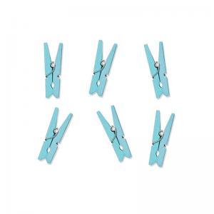 Klädnypor trä ljusblå 3cm