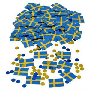 Konfetti Sverige flaggor