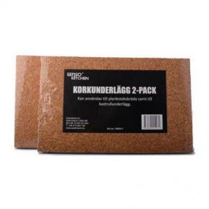 Korkunderlägg 2pack till plankstek
