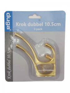 Krok dubbel Guld metall 10,5cm