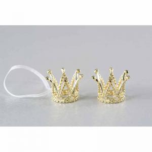 Krona guld hängande 3,5x2,5cm