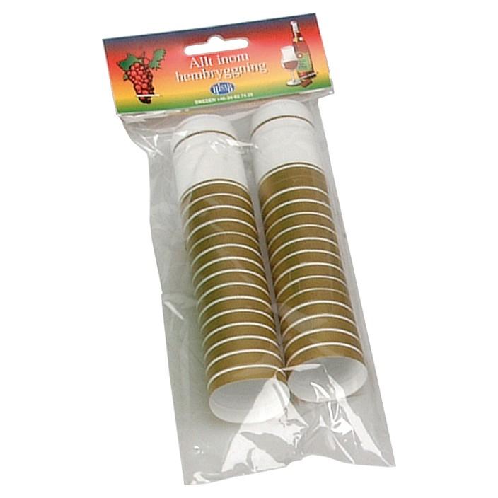 Krymphattar 30-pack vit-guld