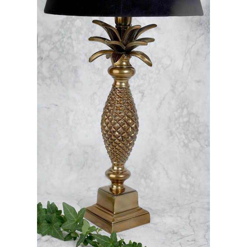Lampfot ananas guld H38cm