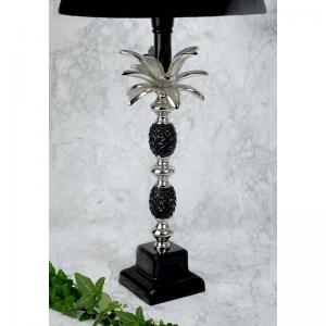 Lampfot ananas svart silver H40cm