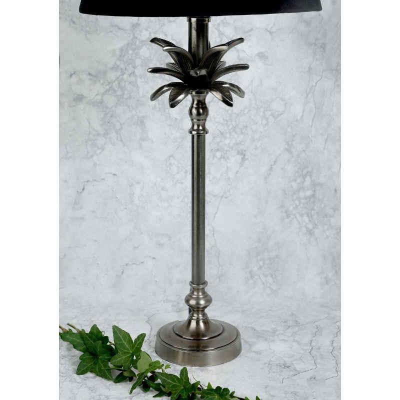 Lampfot blad gammelsilver H39cm